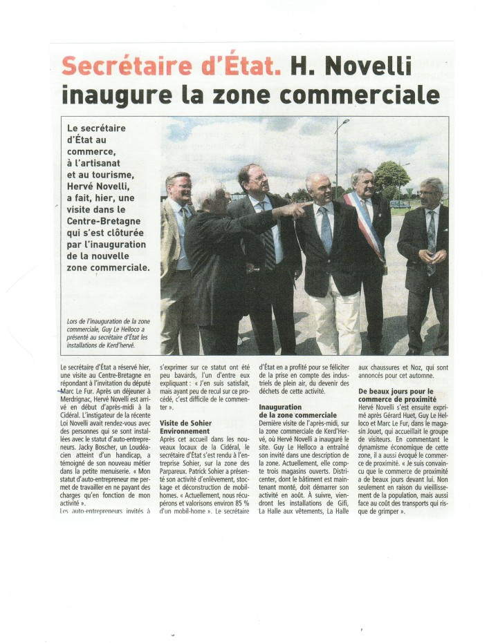 Inauguration de la Zone Ker d'Hervé