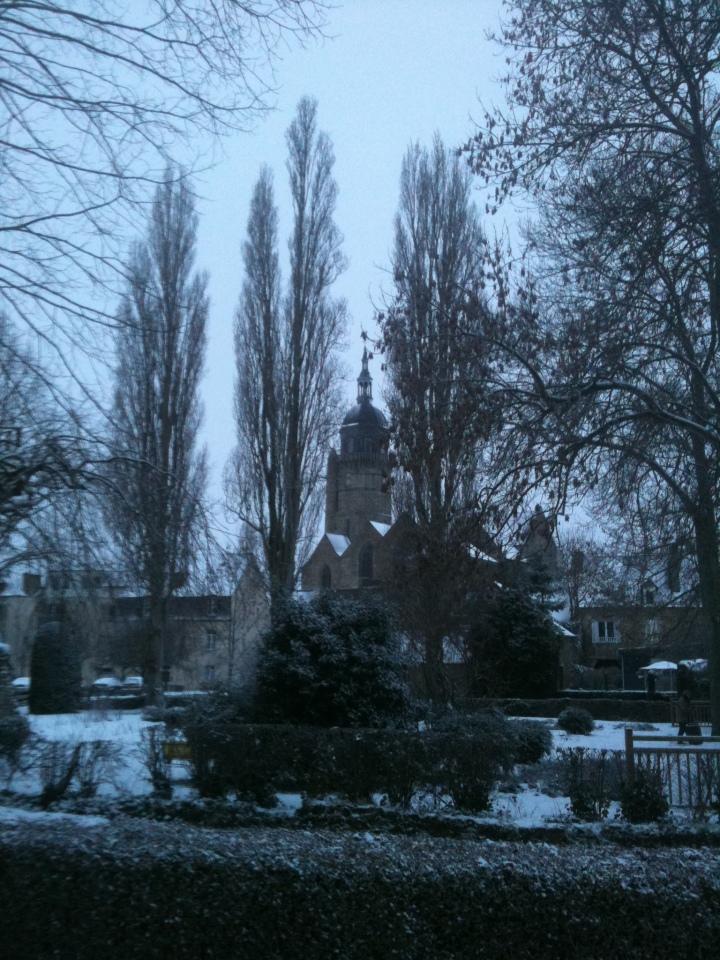 Lamballe sous la neige
