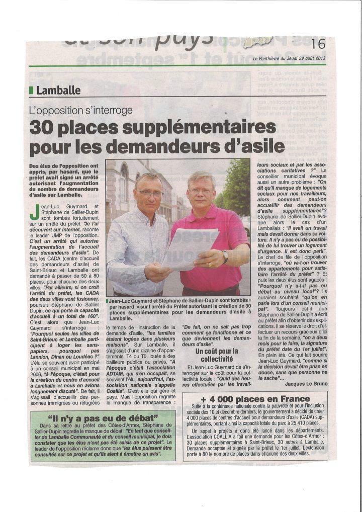 Le Penthièvre le 29 août 2013