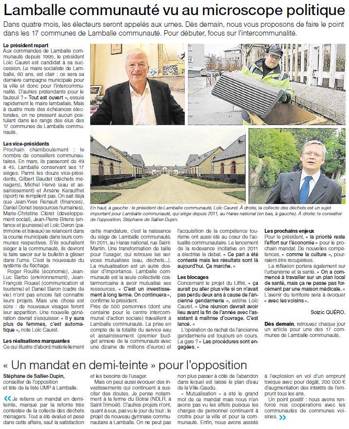 Ouest-France - le 27 novembre 2013