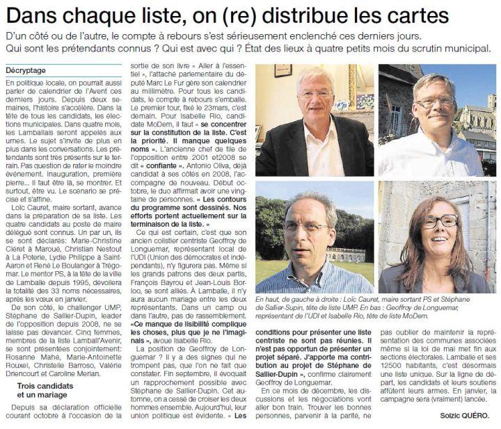Ouest-France - 2 décembre 2013