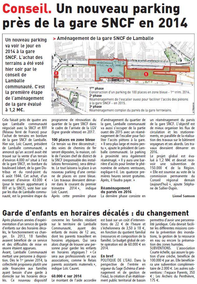 Le Télégramme - 5 décembre 2013