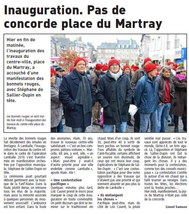Le Télégramme - 15 décembre 2013