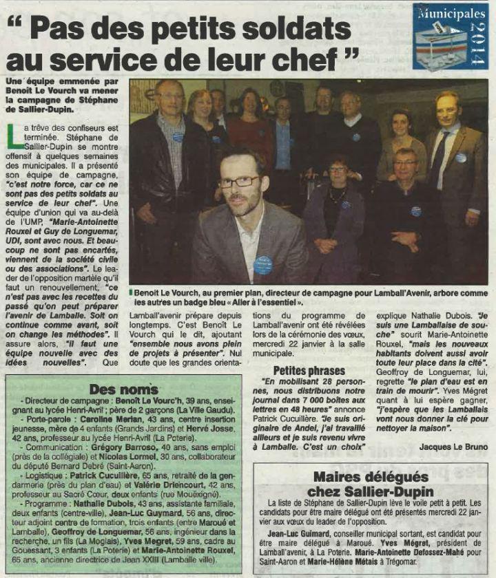 Le Penthièvre - 23 janvier 2014