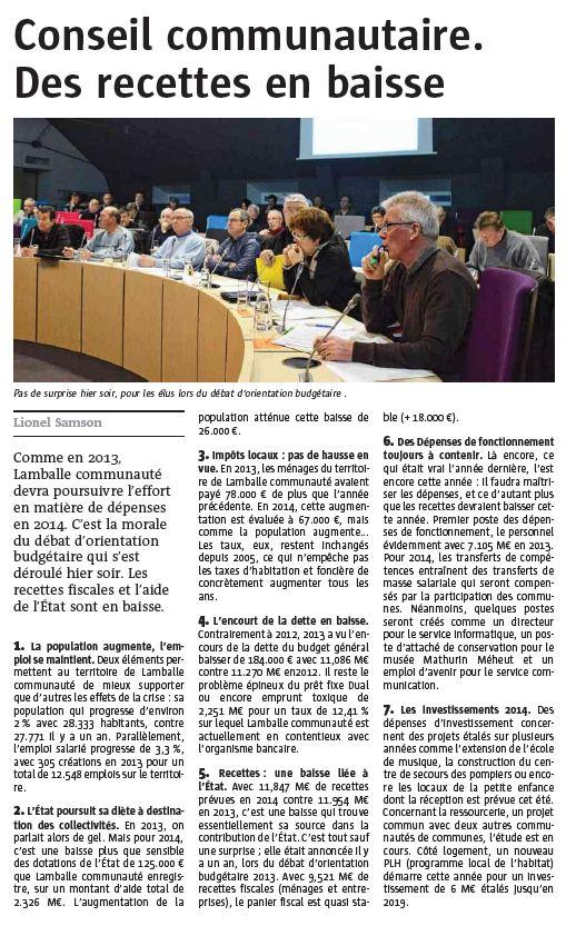 Le Télégramme - 30 janvier 2014
