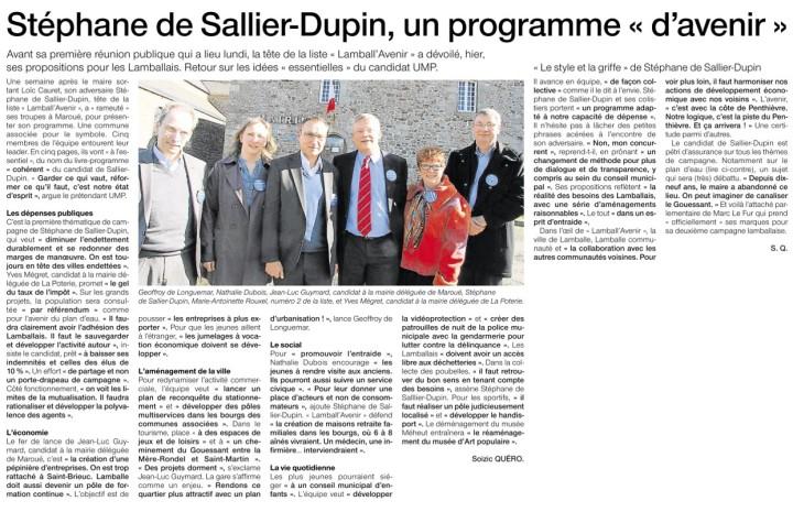 Ouest-France 21 février 2014