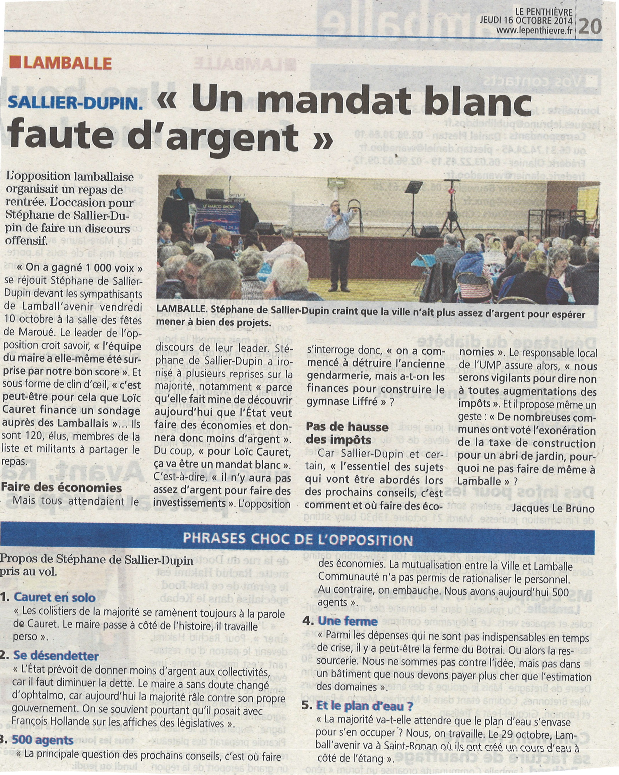 Site Internet de Stéphane de Sallier Dupin