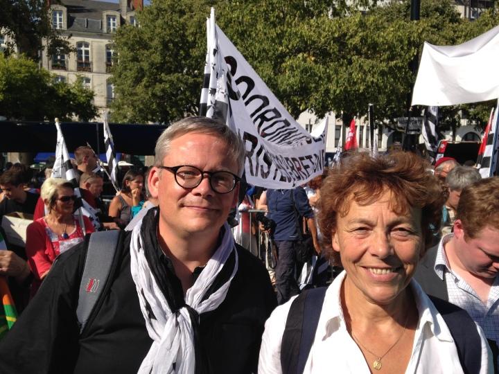 Stéphane de SALLIER DUPIN à la manif de Nantes
