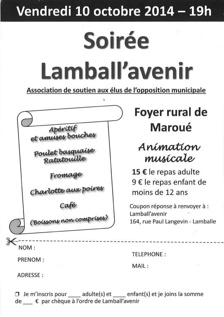 Tract repas Lamball'avenir